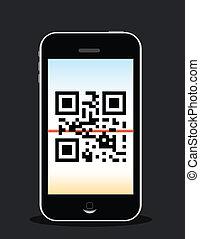 mobile phone scanning qr code