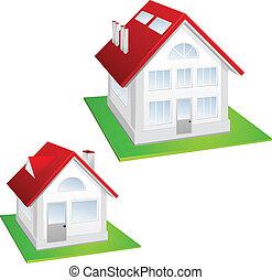 Model of cottage