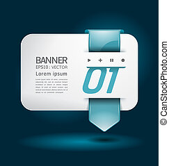 Modern arrow Design template / can be used for infographics / numbered banners / horizontal cutout lines / graphic or website layout vector illustration.