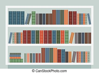Modern bookcase vector
