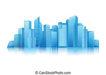 easy to edit vector illustration of modern building