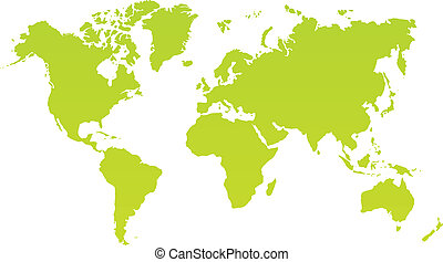 modern color world map on white background