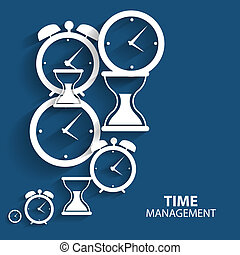 Modern Flat Time Management Vector Icon for Web and Mobile Application