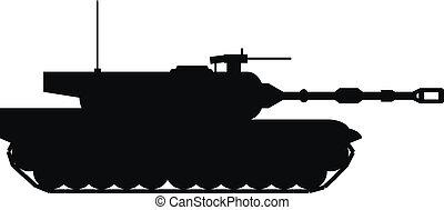 Modern heavy tank on white background. Vector illustration.