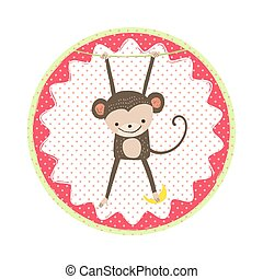 Monkey badge emblem