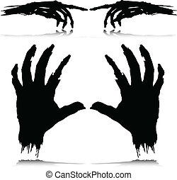 monster hand vector silhouettes
