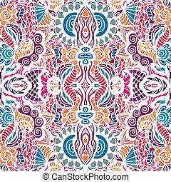 Mosaic vector seamless pattern