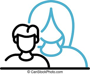 Mother care child icon, outline style