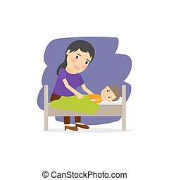Mother care for the child