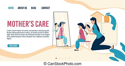 Mother care parenting landing page design template