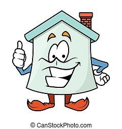 Motivation - Cartoon Home Character
