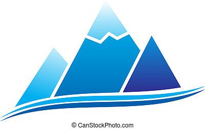 Mountain with ice. illustration.