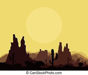 Mountains in the desert