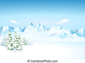 Mountains in the snow