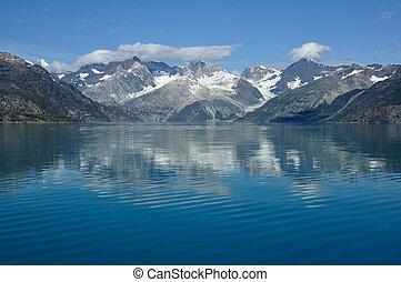 Mountains and Reflection, Glacier Bay National Park, Alaska
