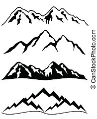 Mountains with snowy peaks