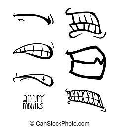 mouth design , vector illustration