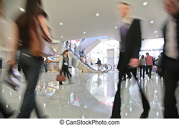 Movement in business center
