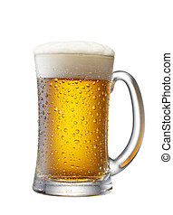 mug of beer isolated from white background