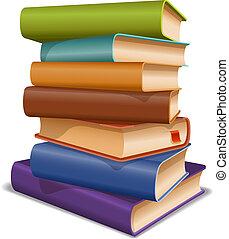 Multi colored books