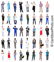 Group Of People From Various Professions