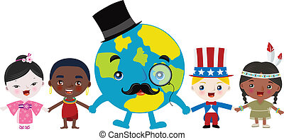 Multicultural children and earth
