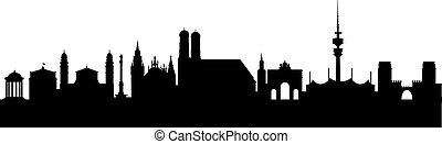Munich Silhouette black abstract