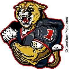 cougar football player mascot
