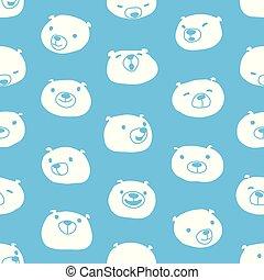 Mushroom vector Seamless Pattern repeat wallpaper tile background cartoon illustration blue