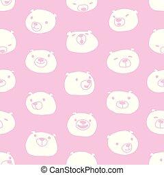 Mushroom vector Seamless Pattern repeat wallpaper tile background doodle illustration pink