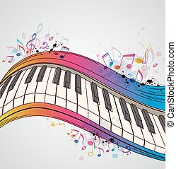 Music background with piano