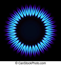 Natural gas flame. Vector illustration