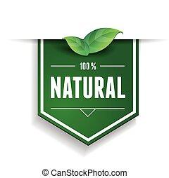 Natural label or ribbon