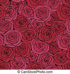 Natural Seamless floral pattern