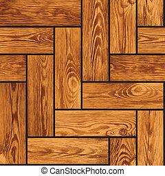 Naturalistic seamless vector texture of wooden parquet