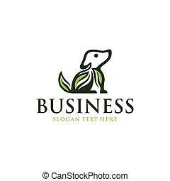 Nature Dog Leaf Logo Design