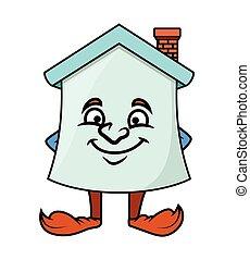 Naughty Smile - Cartoon Home Vector