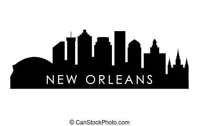 New Orleans skyline silhouette.
