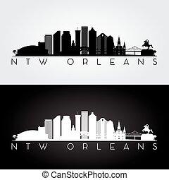 New Orleans skyline silhouette