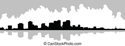 New Orleans Waterfront Skyline