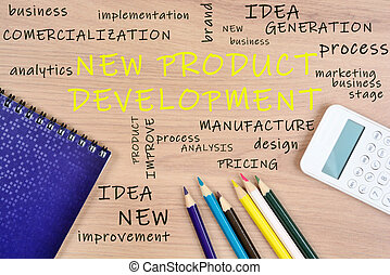 New Product Development words on table