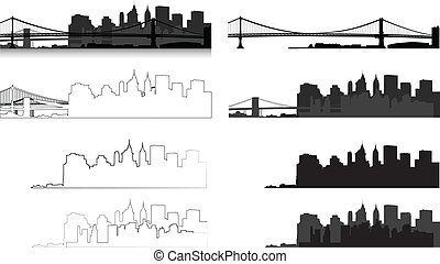 New York city silhouette