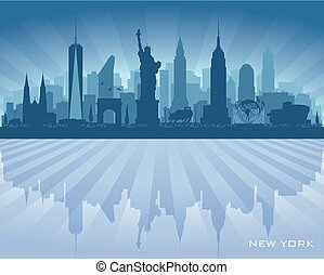 New York city skyline vector silhouette