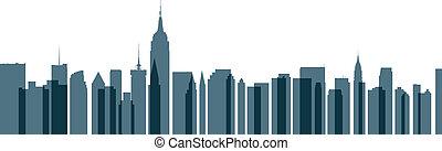 New York City Transparent Skyline