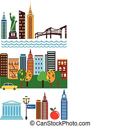 New York attractions and scenes