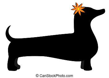 Illustration of nice vector dog