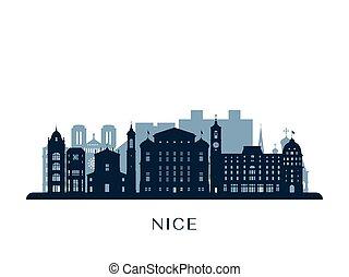 Nice skyline, monochrome silhouette.