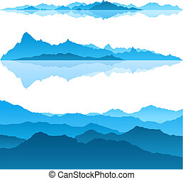 Nice view of the Blue Mountains - a vector set