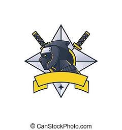 ninja mascot e sport logo