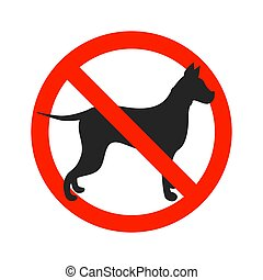 No dogs sign isolated on white background.